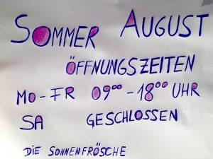 August Öffnungszeiten